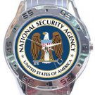 National Security Agency NSA Logo Analogue Watch