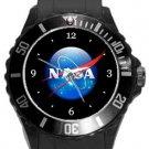 NASA Logo Plastic Sport Watch In Black