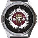 Florida State University Round Metal Watch