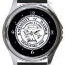 University of Illinois Round Metal Watch