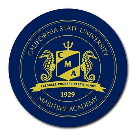 California State University Maritime Academy Heat-Resistant Round Mousepad