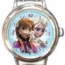 Elsa Anna Frozen Round Italian Charm Watch