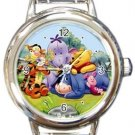 Winnie the Pooh and Friends Round Italian Charm Watch