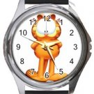 Funny Garfield Round Metal Watch