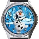 Olaf Frozen Round Metal Watch