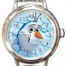 Funny Olaf Frozen Round Italian Charm Watch