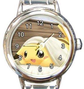 Sleeping Pikachu Round Italian Charm Watch