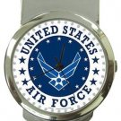 United States Air Force Money Clip Watch