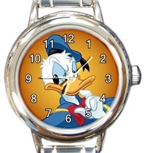 Donald Duck Round Italian Charm Watch
