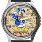 Classic Donald Duck Round Metal Watch
