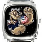 Popeye The Sailorman Square Metal Watch