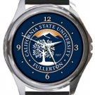 California State University Fullerton Round Metal Watch