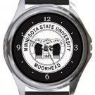 Minnesota State University Moorhead Round Metal Watch