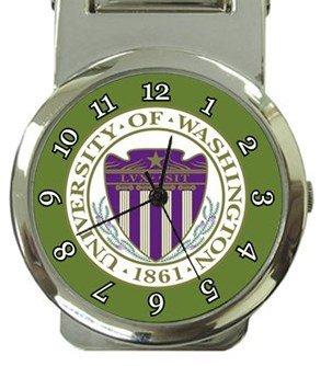 University of Washington Money Clip Watch