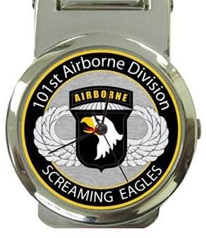 101st Airborne Division Screaming Eagles Money Clip Watch