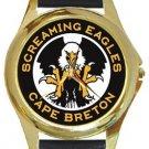 Screaming Eagles Cape Breton Gold Metal Watch