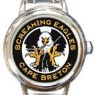 Screaming Eagles Cape Breton Round Italian Charm Watch