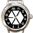 EXO Logo Kpop Round Italian Charm Watch