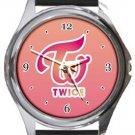 Twice Logo Kpop Round Metal Watch
