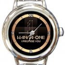 Wanna One Logo Kpop Round Italian Charm Watch