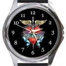 Bon Jovi Round Metal Watch