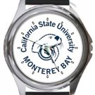 California State University Monterey Bay Round Metal Watch