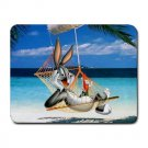 Bugs Bunny On Holiday Heat-Resistant Mousepad