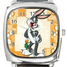 Bugs Bunny Square Metal Watch