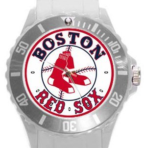 Boston Red Sox Plastic Sport Watch In White
