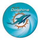 Miami Dolphins Heat-Resistant Round Mousepad