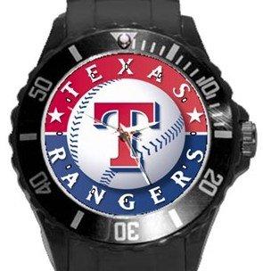 Texas Rangers Plastic Sport Watch In Black