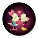 Mickey Minnie Love Heat-Resistant Round Mousepad