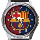 Barcelona FC Round Metal Watch