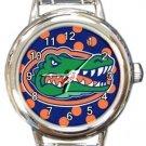 Florida Gators Round Italian Charm Watch