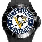 Pittsburgh Penguins Plastic Sport Watch In Black