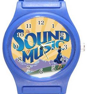 Sound Of Music Blue Plastic Watch