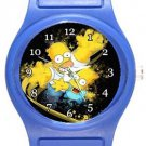 Bart and Homer Simpson Blue Plastic Watch