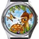 Bambi Round Metal Watch