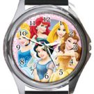 Disney Princesses Round Metal Watch