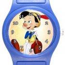 Pinocchio Blue Plastic Watch