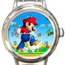 Super Mario Round Italian Charm Watch