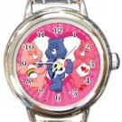Pink Care Bears Round Italian Charm Watch