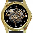 Metallica Gold Metal Watch