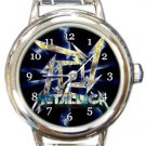 Cool Metallica Logo Round Italian Charm Watch