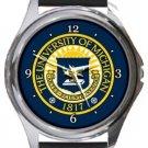 The University of Michigan Round Metal Watch