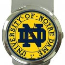University of Notre Dame Money Clip Watch