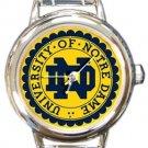 University of Notre Dame Round Italian Charm Watch