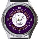 Minnesota State University Round Metal Watch