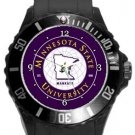 Minnesota State University Plastic Sport Watch In Black