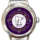 Minnesota State University Round Italian Charm Watch